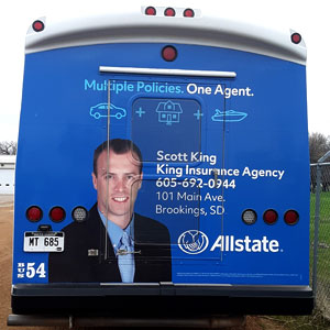 bus ad king